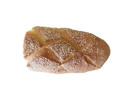 pão em um fundo branco foto