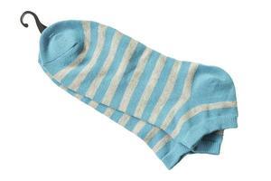 meias de algodão isoladas em um fundo branco foto