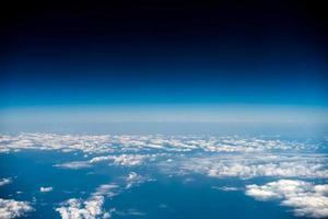 paisagem de nuvens, vista de avião foto