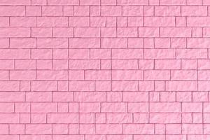 Ilustração 3D de uma parede de tijolos rosa foto