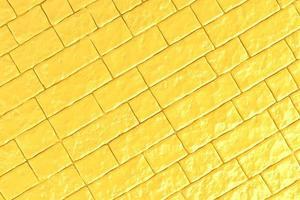 Ilustração 3D de uma parede de tijolos amarelos foto