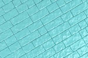 Ilustração 3D de uma parede de tijolos azul-petróleo foto