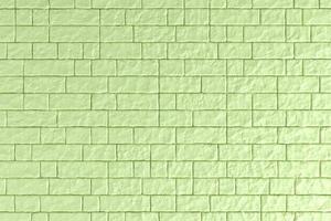 Ilustração 3D de uma parede de tijolos verdes foto