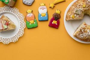 conceito de comida do dia dos três reis