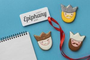 biscoitos e notas do dia da epifania