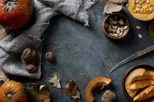 quadro de alimentos de outono foto