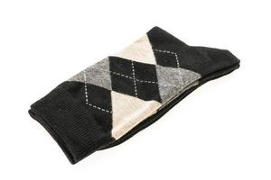 meias em fundo branco foto