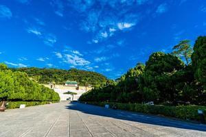 estacione em torno do museu do palácio nacional na cidade de taipei, taiwan foto