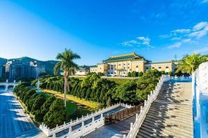 o museu do palácio nacional na cidade de taipei, taiwan foto