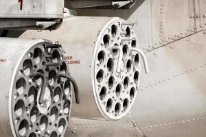 míssil torre de helicóptero de caça foto