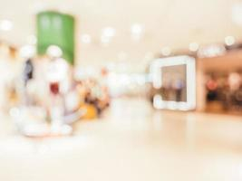 fundo desfocado abstrato de shopping foto