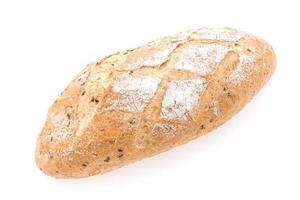 pão de massa azeda em fundo branco
