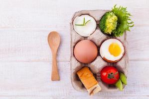 ingredientes frescos de omelete foto