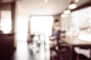 fundo desfocado de café e restaurante foto