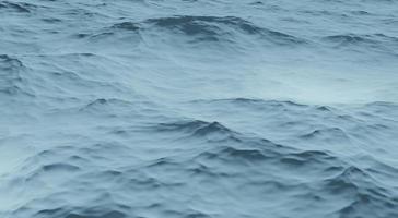 Ilustração 3D vista aérea com fundo azul da onda do oceano