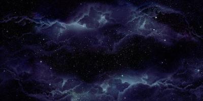 Fundo 3D do espaço da nebulosa realista
