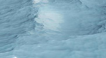 Ilustração 3D vista aérea do fundo azul da onda do oceano