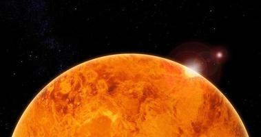 Ilustração 3D de Vênus com a detecção de fosfina e fósforo na atmosfera de Vênus foto