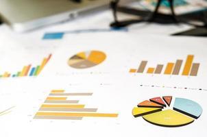 tabelas e gráficos de negócios