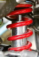 choque de motocicleta close-up foto