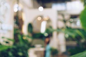 café desfocado e fundo de café de restaurante foto