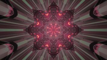 ilustração 3d futurística do portal em forma de estrela
