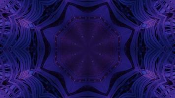 ilustração 3d futurista do portal em forma de estrela