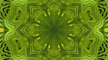 ilustração 3d abstrato verde ornamental