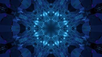 Ilustração 3D de cristal em forma de estrela