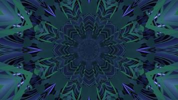 ilustração 3D de fundo futurista caleidoscópico azul e verde
