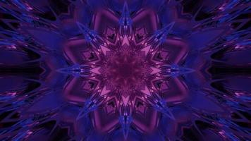 ilustração 3d futurista em forma de cristal abstrato