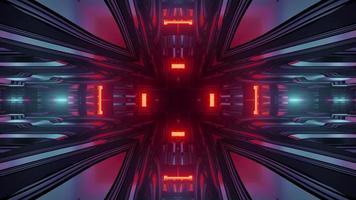 ilustração 3d abstrata de fundo de alta tecnologia