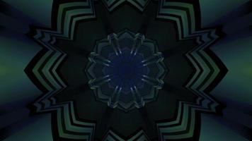 gateway sci fi com ilustração 3D de padrão simétrico