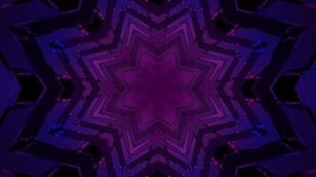 Ilustração 3D do fundo geométrico do padrão em forma de estrela violeta.