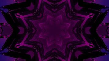 Ilustração 3D de padrões geométricos de estrelas violetas