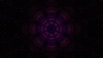 Ilustração 3D de círculos abstratos de luz roxa foto