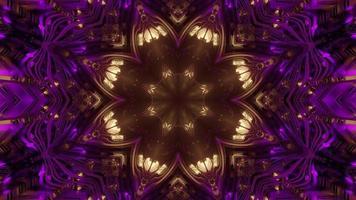 padrão floral brilhante com ilustração 3D de efeito de luz