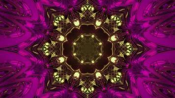 ilustração 3D abstrata do padrão de flor de néon