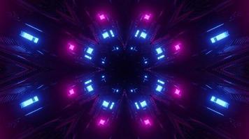 fundo abstrato da ilustração 3d do ciberespaço iluminado