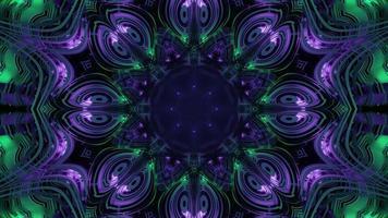 ilustração 3d de padrão de flor fractal