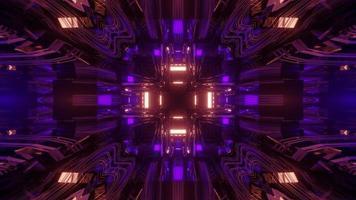 ilustração 3d futurista do túnel de nave espacial