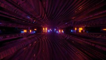 fundo de tecnologia abstrato com ilustração 3D de luzes de néon