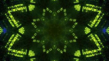 Ilustração 3D do fundo abstrato do caleidoscópio
