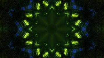 ilustração 3d abstrata de luzes de néon em formas de estrelas