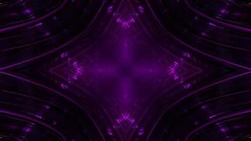 Ilustração 3D do corredor roxo escuro