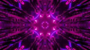 ilustração 3d do fundo abstrato da tecnologia futurista