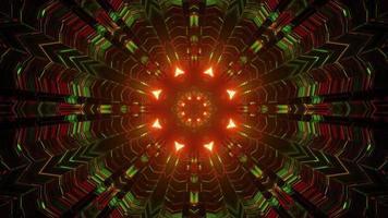 Ilustração 3D do corredor geométrico criativo