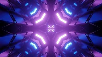 fundo geométrico futurista com linhas simétricas em ilustração 3D