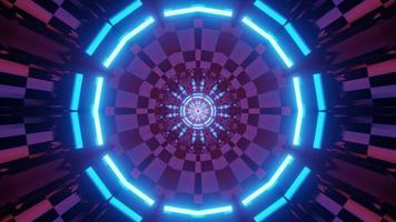 túnel em formato redondo com ilustração em 3D de design futurista