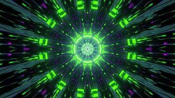 reflexão geométrica em túnel dinâmico na ilustração 3D foto
